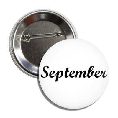 september autumn ninth month button