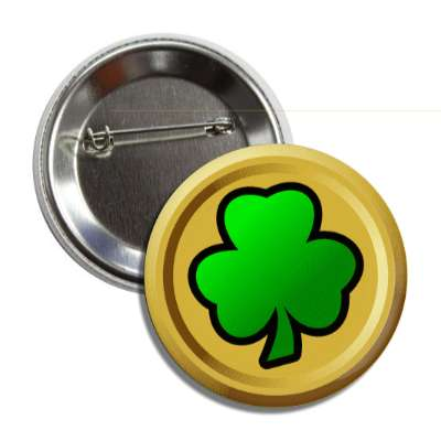 shamrock gold coin button