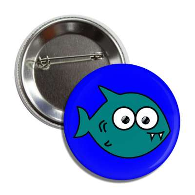 shark cute cartoon button
