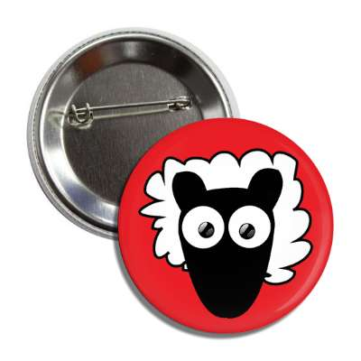 sheep cute cartoon button