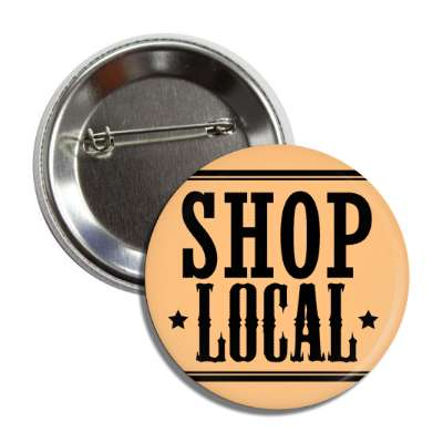 shop local tan stars lines button