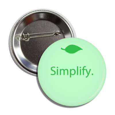 simplify green small leaf button
