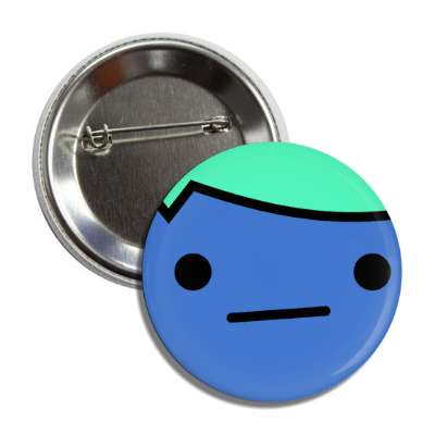 smiley cartoon closed mouth indifferent button