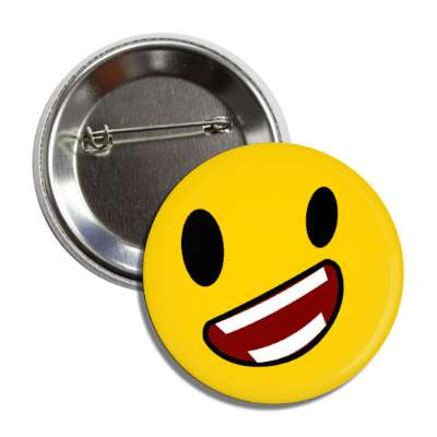 smiley exaggerated smile angle button