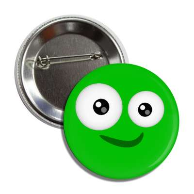 smiley green silly green button