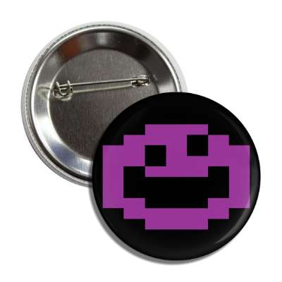 smiley jawbreaker purple black button