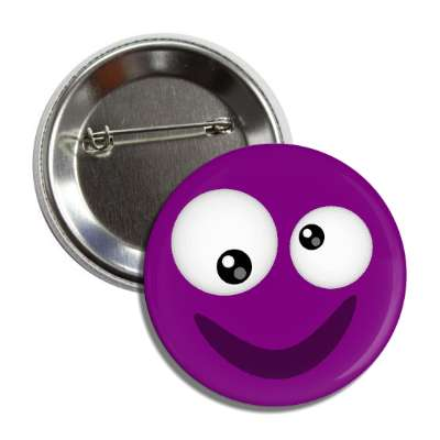 smiley purple crossed eyes button