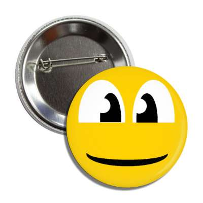 smiley wide face closed mouth button