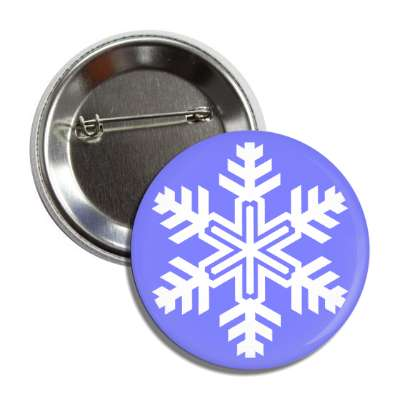 snowflake blue white button