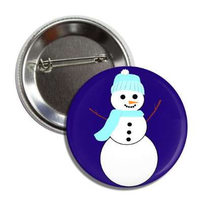 snowman deep blue button