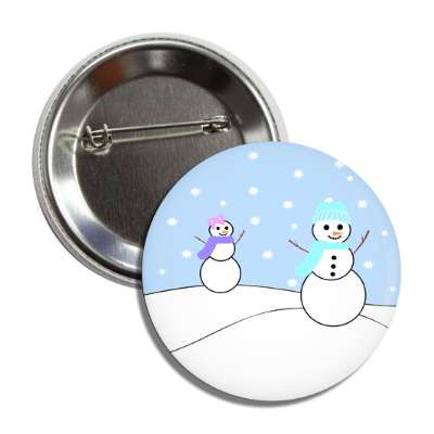 snowmen outside snowing button