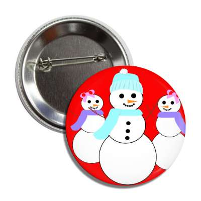 snowmen snow women button