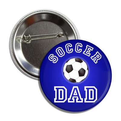 soccer dad blue button