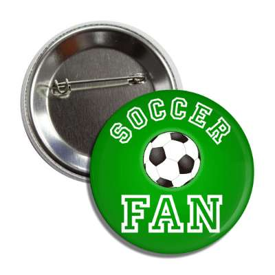 soccer fan green button