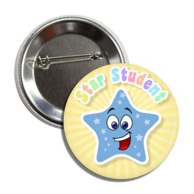 star student smiley button