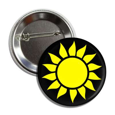 sun black yellow symbol button