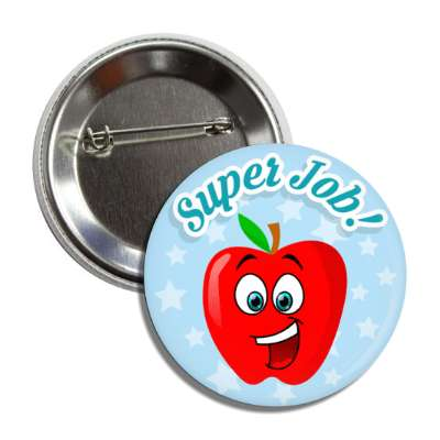super job smiley apple button
