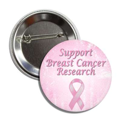 support breast cancer research pink ribbon button