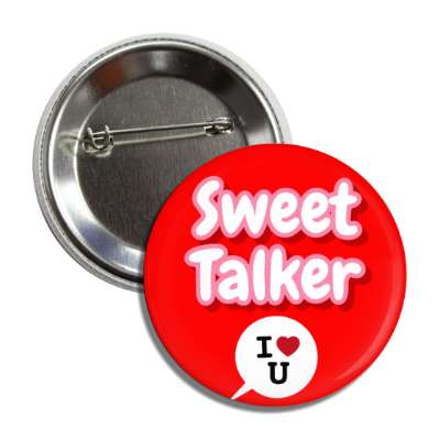 sweet talker chat bubble red i heart you button
