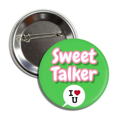 sweet talker green chat bubble i heart you button