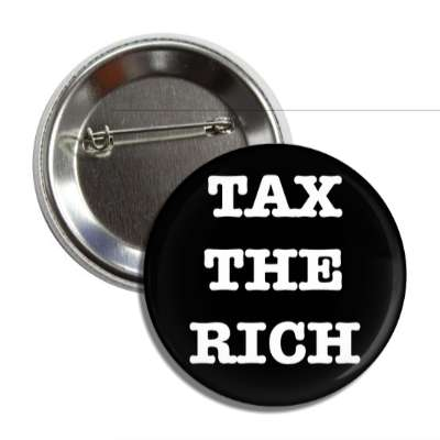 tax the rich typewriter black button