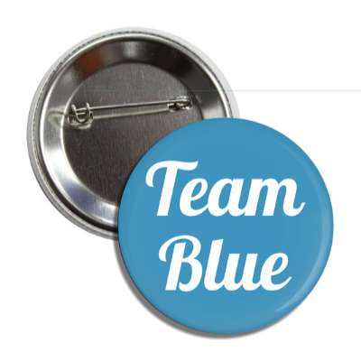 team blue cursive button