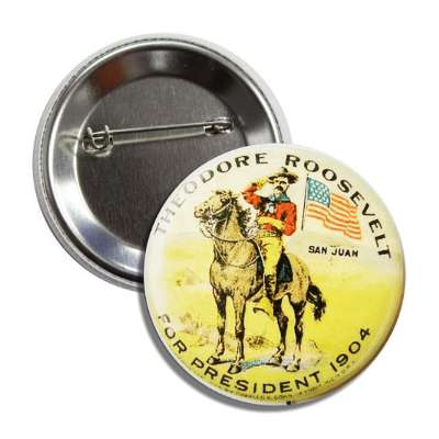 theodore roosevelt 1904 button