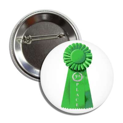 third place ribbon green button
