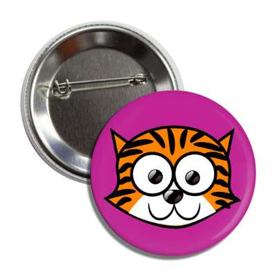 tiger cute cartoon button