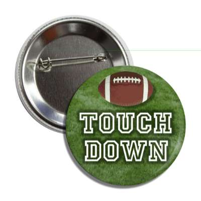 touchdown football college jersey turf button