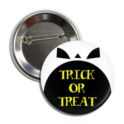 trick or treat skull open mouth button