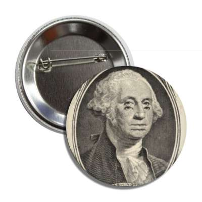 trippy george washington button