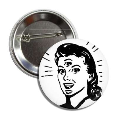 trippy retro girl button