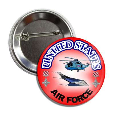 us air force helicopter stealth red gradient button