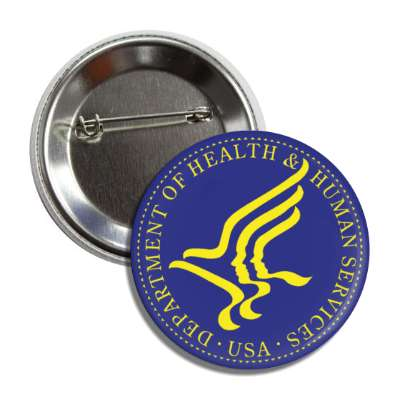 usa department of health blue yellow logo button
