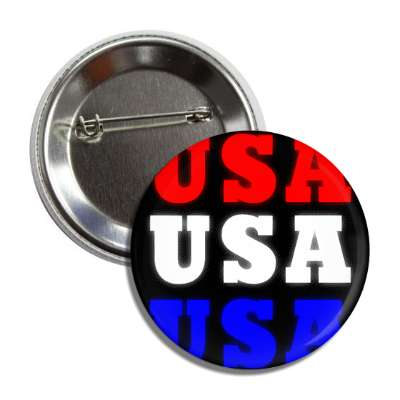 usa red white blue patriotic black button
