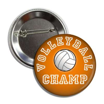 volleyball champ orange button