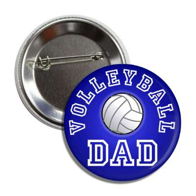 volleyball dad blue button