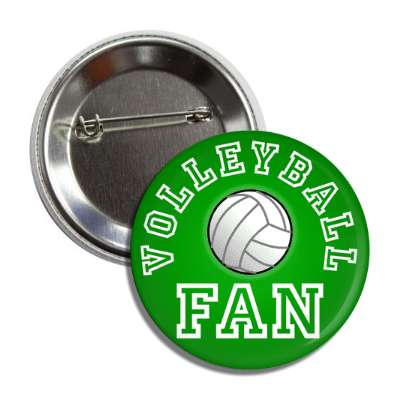 volleyball fan green button