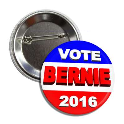 vote bernie 2016 3d button