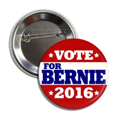 vote bernie 2016 classic red top bottom white middle button