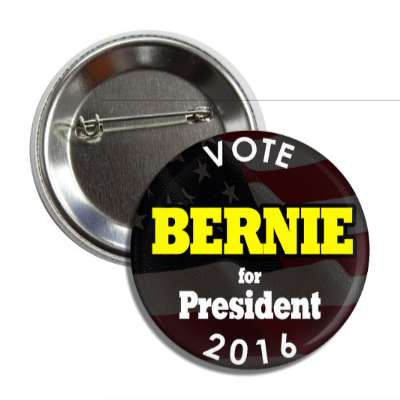 vote bernie 2016 dark american flag button