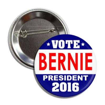 vote bernie 2016 dark blue white red button