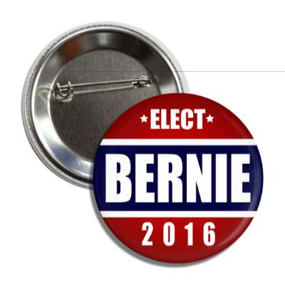 vote bernie 2016 middle dark blue red top bottom button