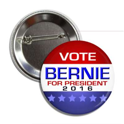 vote bernie 2016 modern red white blue button