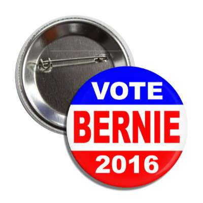 vote bernie 2016 red white blue button