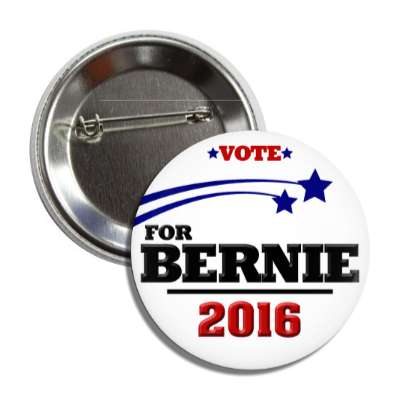 vote bernie 2016 stars white button