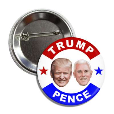 vote donald trump michael pence 2020 faces red white blue button