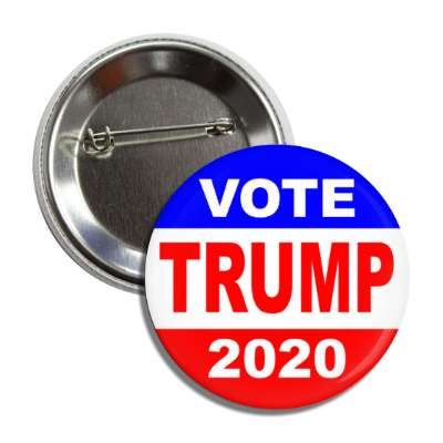 vote donald trump president 2020 classic red white blue button