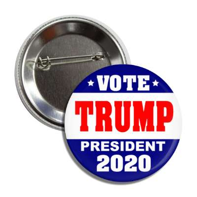 vote donald trump president 2020 dark blue top bottom white middle button